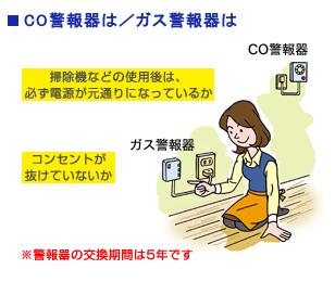CO警報器は/ガス警報器は