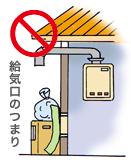 給気口・排気口に注意してください